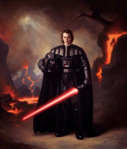 Oil-painting of Darth Vader