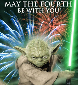 May July Fourth be with you