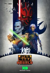Ezra and Sabine gracing the season three poster