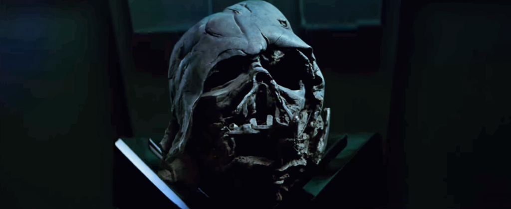 Darth Vader's melted mask from Episode VII